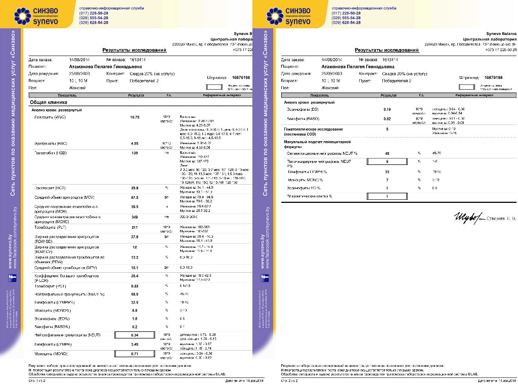 Днепропетровск синево крови общий анализ mcv fl крови анализ