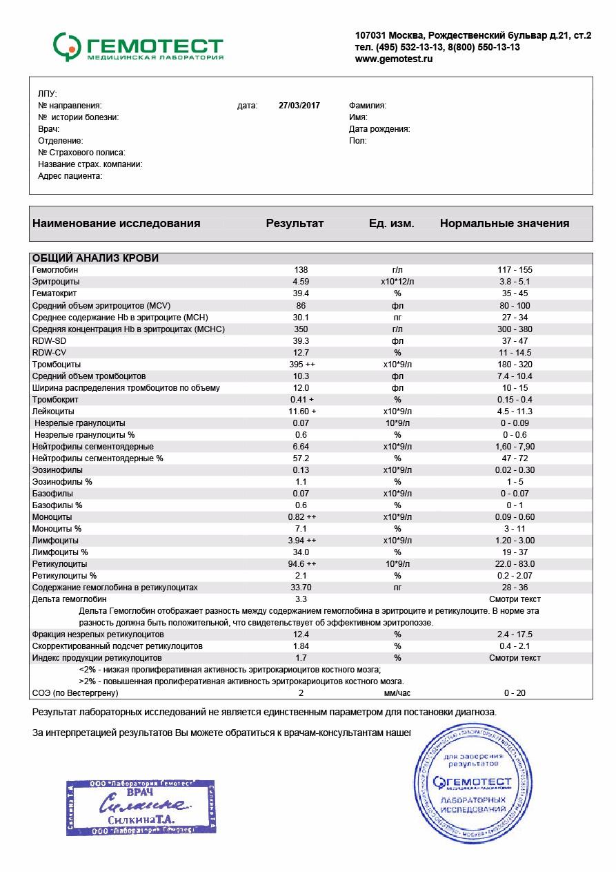 Стоит крови гемотест в анализ биохимический сколько при у канефрон цистите курс лечения