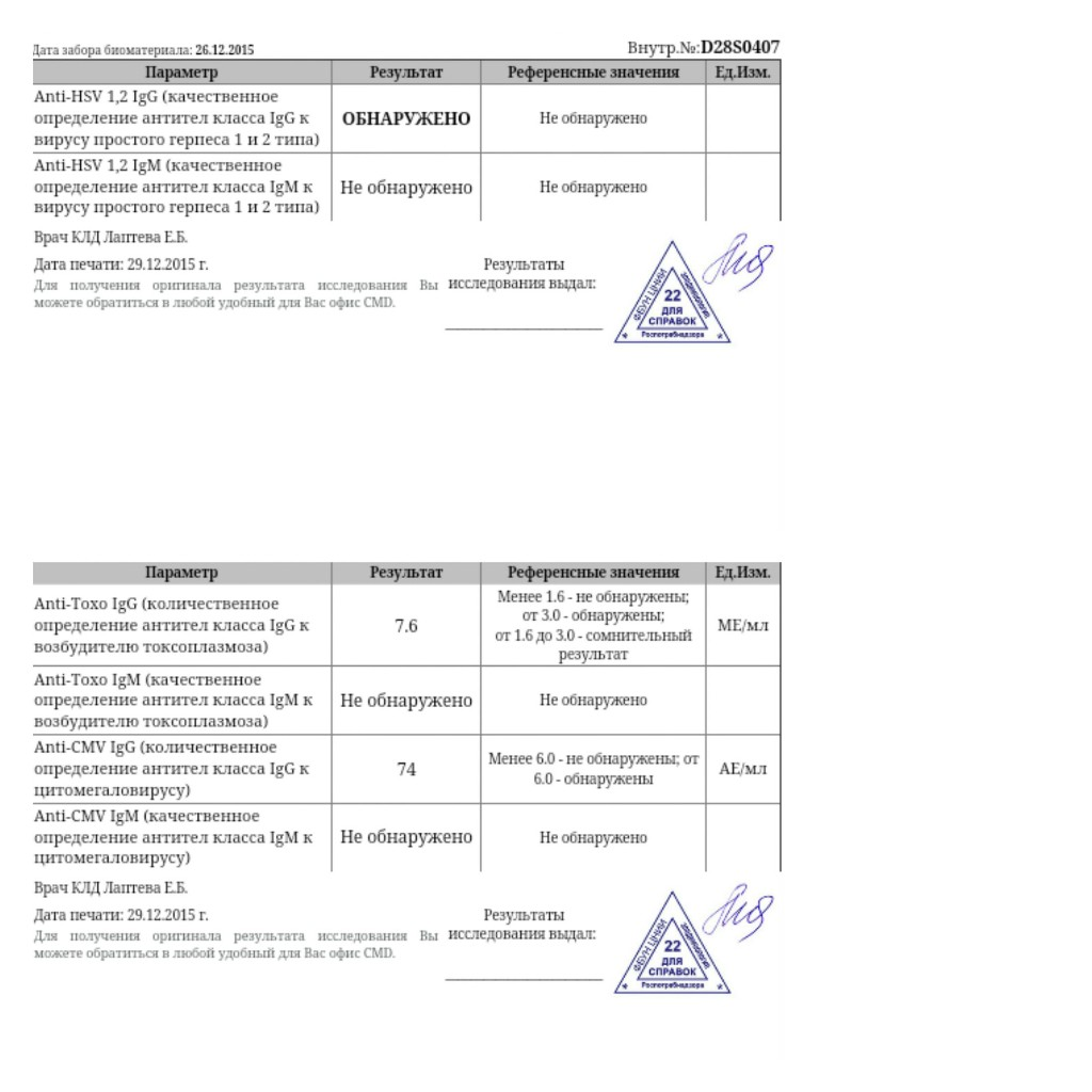 Внутриутробные инфекции (ВУИ) при беременности