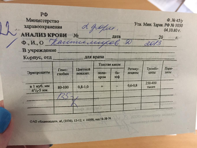 С расшифровка пальца крови анализов лечение секстафаг цистита при