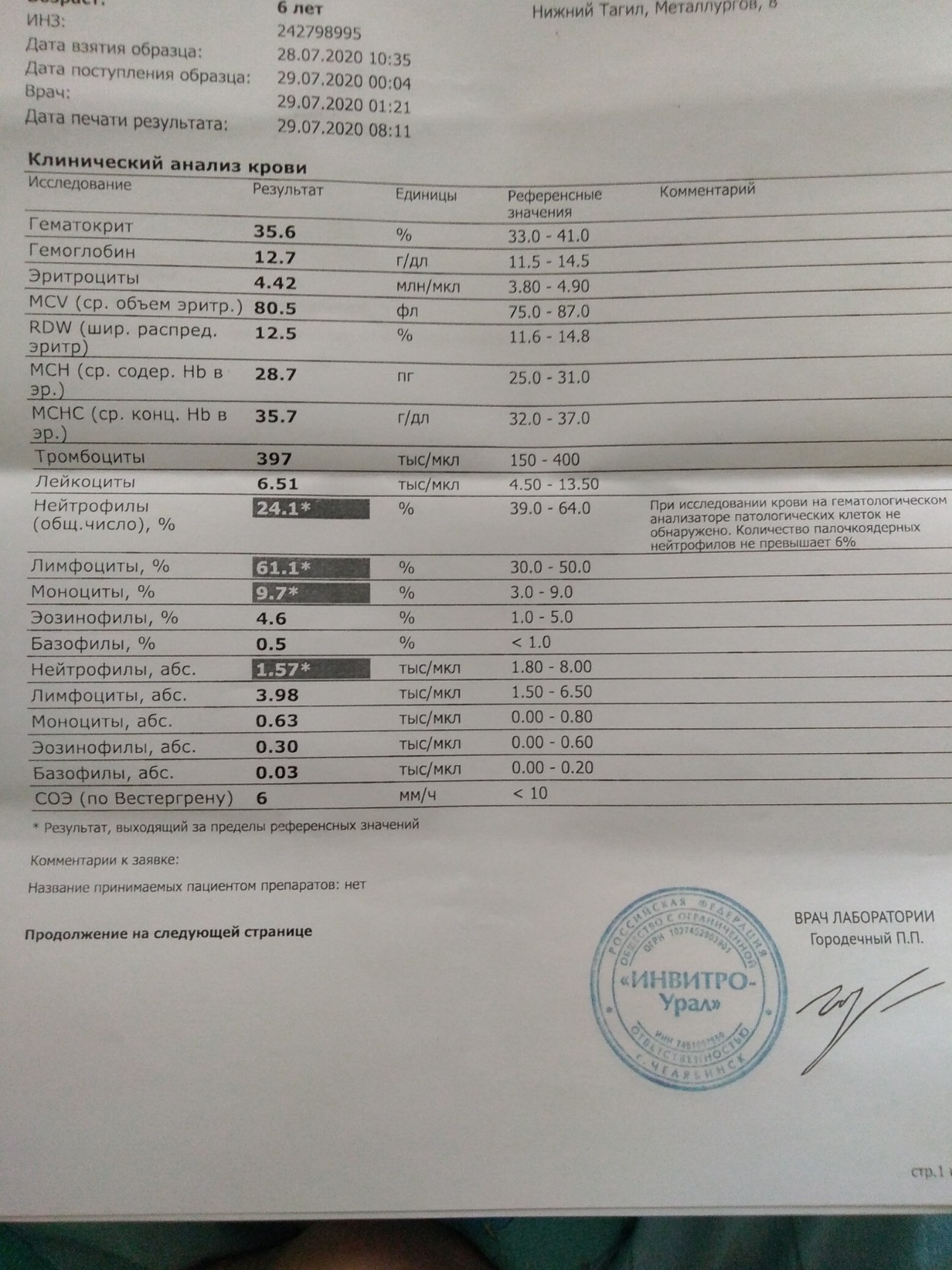 Анализ крови петербург клинический латинских крови расшифровка анализа